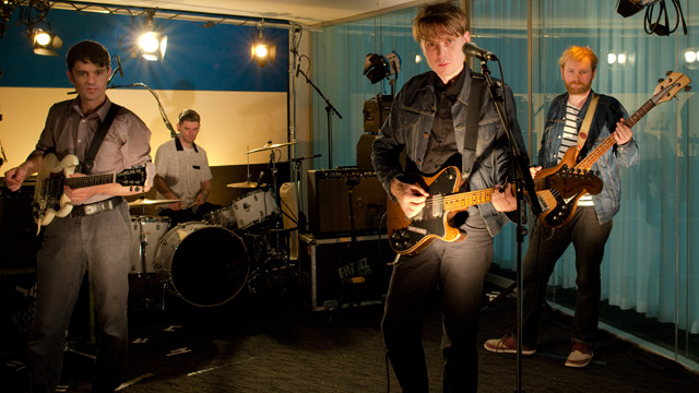 Franz Ferdinand in the Guardian studio